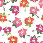 Romantische Hibiskus Blüten Muster Design