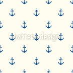 Âncoras Ahoi Design de padrão vetorial sem costura