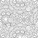 To Fill In Mandala Seamless Vector Pattern Design