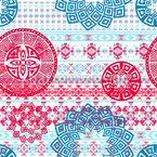 Japanese Mandala Seamless Vector Pattern Design