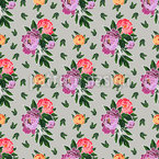 Peony Flowers  Seamless Vector Pattern Design
