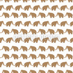 Mammoths Walk Vector Pattern