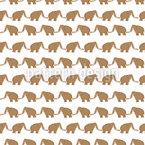 Mammuts zu Fuß Nahtloses Vektormuster