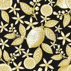 Goldene Zitronen Nahtloses Vektormuster