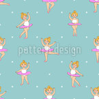 Little Dancing Ballerinas Seamless Vector Pattern Design