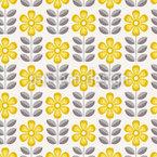 Sonnenschein Blumen Rapportmuster