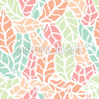 Scandi Art Leaves Repeat Pattern