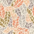 Arte da Natureza Folhas Design de padrão vetorial sem costura