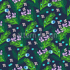 Plants With Water Bubbles Design Pattern