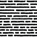 手描きのレンガの壁 シームレスなベクトルパターン設計