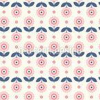 Flor escandinavo Design de padrão vetorial sem costura