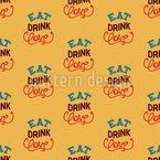 飲む愛をモットー シームレスなベクトルパターン設計