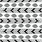 Ethnische Spiralen Musterdesign