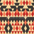 エスノ菱形 シームレスなベクトルパターン設計