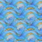 Impressionismo da Lagoa Design de padrão vetorial sem costura