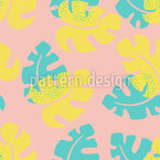 Monstera With Texture Seamless Pattern