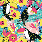 Toucan Lookout Seamless Vector Pattern Design