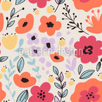Trickling Flowers Pattern Design