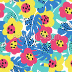 Hidden Jungle-Blossoms Pattern Design