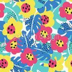 Verborgene Jungleblüten Musterdesign