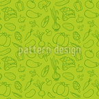 Vegan Food  Seamless Vector Pattern Design