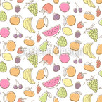 Colorful Fruits Seamless Vector Pattern Design