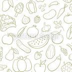 Obst und Gemüse Nahtloses Vektor Muster