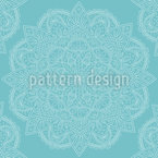 Cute And Oriental Mandala Seamless Vector Pattern Design