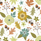 Autumn Leaves Festival  Seamless Vector Pattern Design