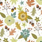 Herbstlaub Festival Nahtloses Vektor Muster