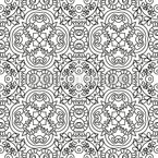 Filigree Lines Seamless Vector Pattern Design