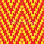 Пламя зигзага Бесшовный дизайн векторных узоров