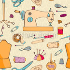 Sewing Accessoires  Seamless Vector Pattern Design