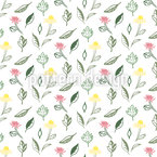 Summer Garden Flowers Design Pattern