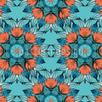 Mandala Of Flowers Seamless Vector Pattern Design