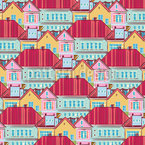 Town Houses From Above Seamless Vector Pattern Design