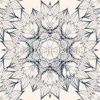 Florales Zentangle Mandala Nahtloses Vektormuster