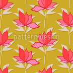 Vintage Flowers For You Seamless Vector Pattern Design