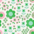 Halbton Retro Blumen Musterdesign