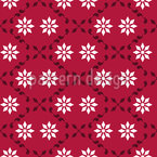 Paarweise Blumen Nahtloses Muster