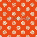 Stroky Polka-Dots Seamless Vector Pattern Design