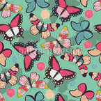 Butterflies With Shadows Seamless Vector Pattern Design