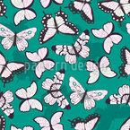 Helle Schmetterlinge Nahtloses Vektormuster
