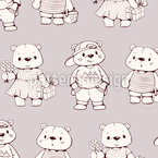 Fancy Teddy Bears Vector Design