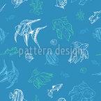 Fisch-Welt Nahtloses Vektormuster
