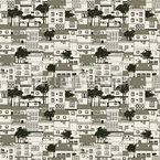 Old Houses  Vector Pattern