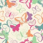 Niedliche Schmetterlinge Nahtloses Vektormuster
