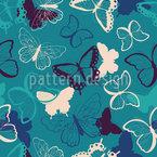 Einfache Schmetterlinge Nahtloses Vektormuster