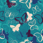 Simple Butterflies Seamless Vector Pattern Design