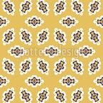 Elementos dispostos Design de padrão vetorial sem costura